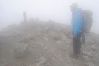 北アルプス/秋雨の南岳