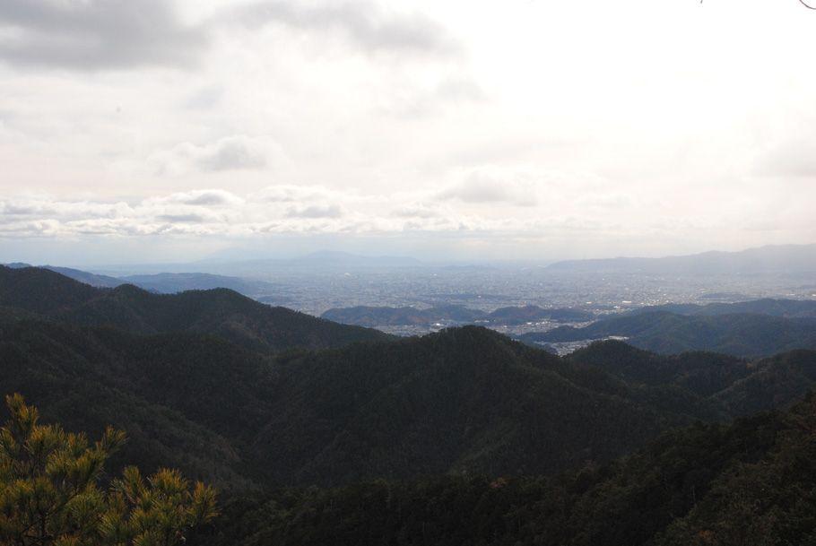 金毘羅山山頂直下からの京都市外