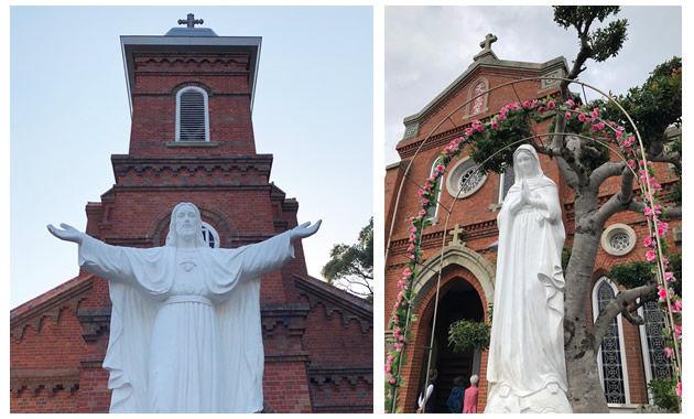 大曽教会と青砂ケ浦教会のマリア像(イメージ)