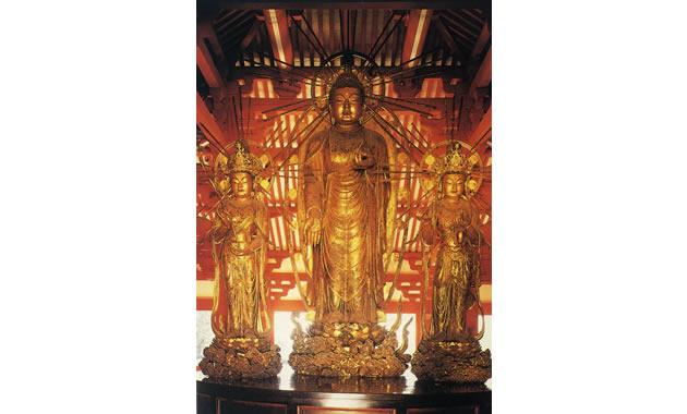客番・浄土寺・阿弥陀三尊立像(イメージ)