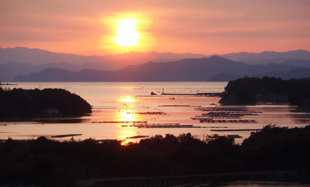 英虞湾の夕景(イメージ)