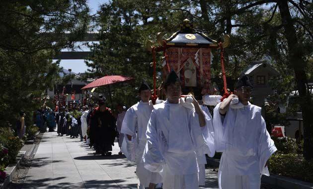 元伊勢籠神社・葵祭の還幸祭(イメージ)