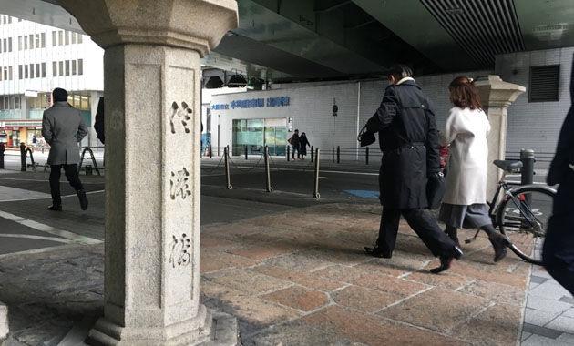 信濃橋の親柱(イメージ)