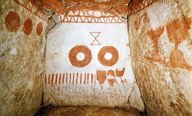 この時期だけ特別公開の虎塚古墳壁画(イメージ)
