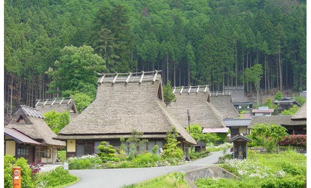 美山町のかやぶきの里(イメージ)