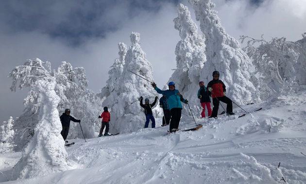 「八甲田山」山岳スキー モンスターを滑る様子(イメージ)