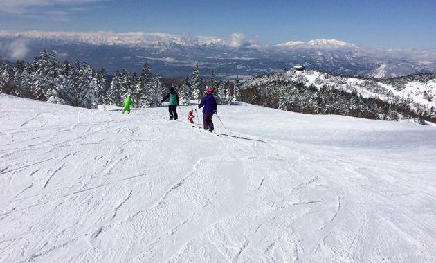 志賀高原スキー場で滑る様子(イメージ)