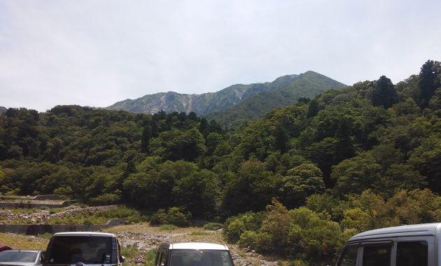 写真:麓から大山を眺める