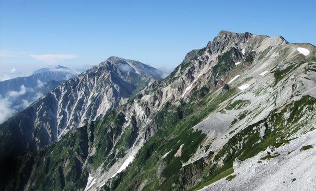 白馬岳付近からの後立山連峰(イメージ)