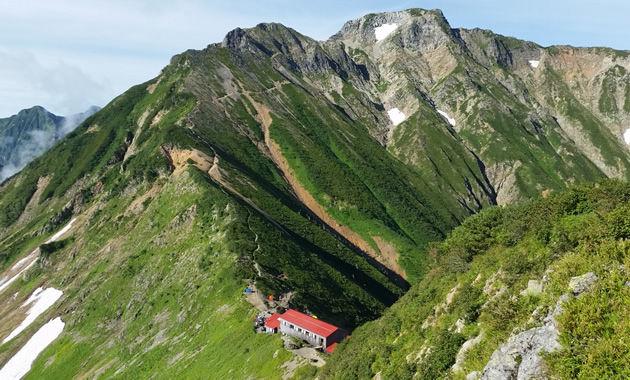 五竜岳と五竜山荘(イメージ)