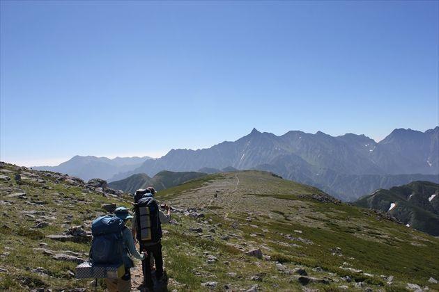 双六岳方面から見た槍ヶ岳(イメージ)