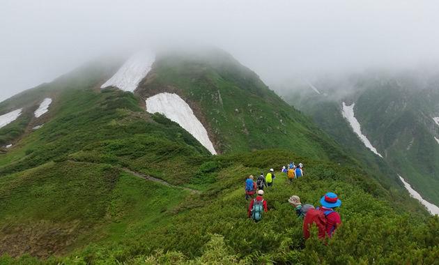 奥大日岳へ向かう登山道(写真は7月下旬/イメージ)