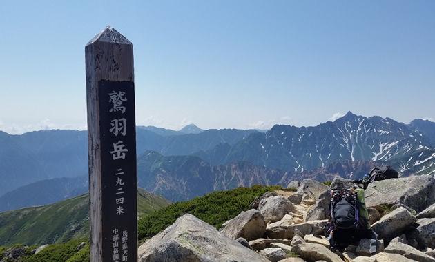 鷲羽岳山頂(写真は7月下旬/イメージ)