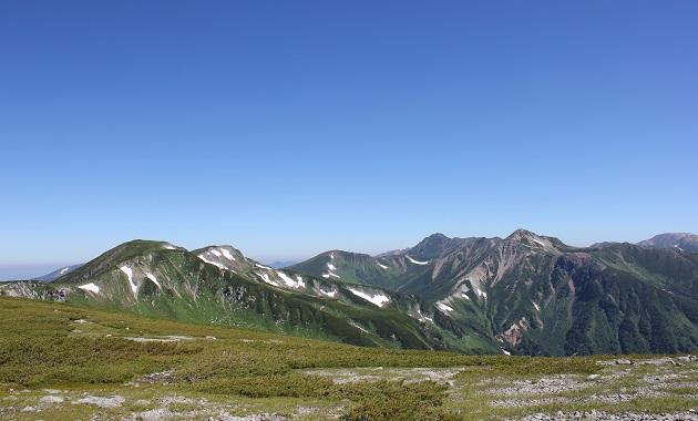 双六岳から見た裏銀座方面(イメージ)
