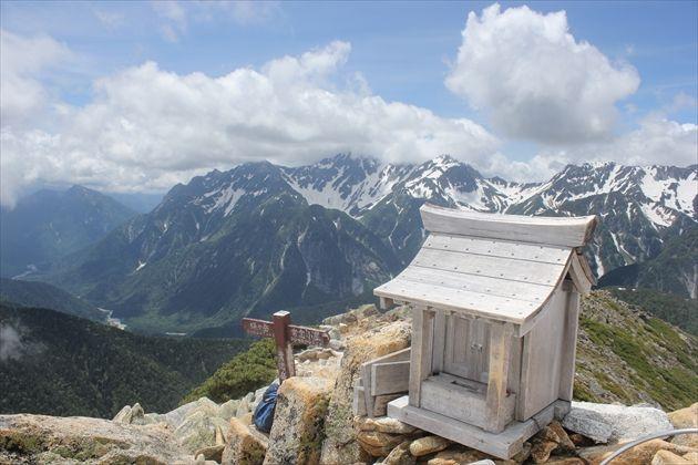 常念岳山頂からの眺め(イメージ)