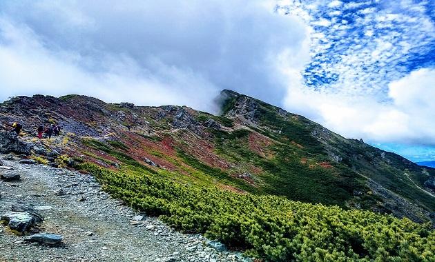 北岳からの稜線(イメージ)