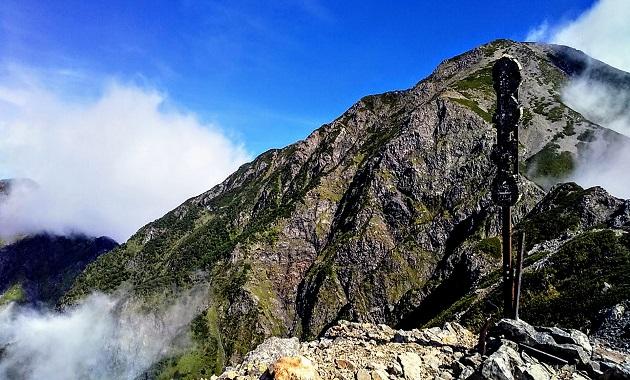 小聖岳から聖岳へ(イメージ)
