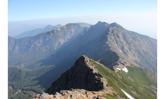 赤岳山頂から横岳・硫黄岳方面の眺め(イメージ)