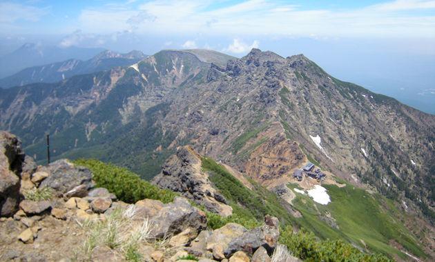 赤岳から硫黄岳方面の展望(イメージ)