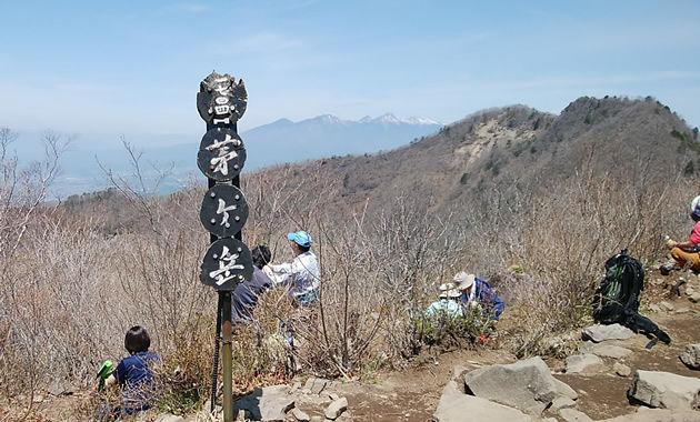 茅ケ岳山頂からの八ヶ岳方面(イメージ)