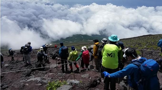 富士山・登山道からの眺め(イメージ)