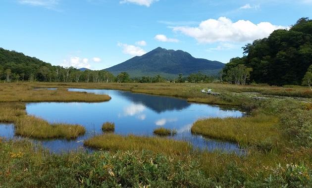 尾瀬の池塘と燧ヶ岳(イメージ)