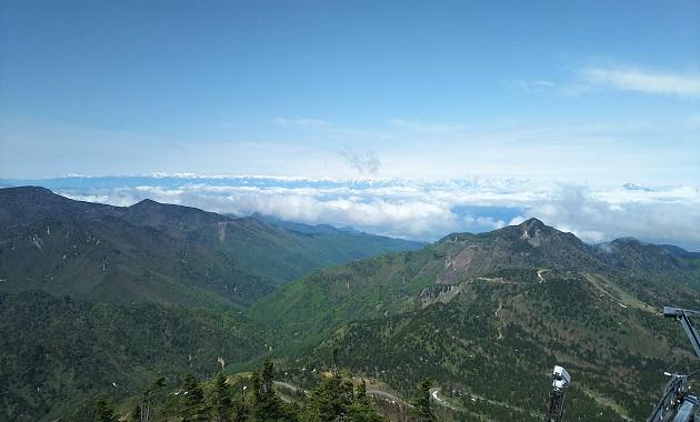 横手山から見た笠ケ岳(イメージ)