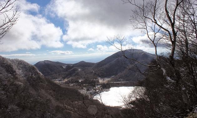 赤城山から見た大沼(イメージ)