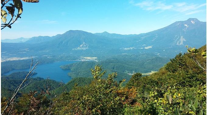 斑尾山からみた黒姫山(左)と妙高山(右)(イメージ)