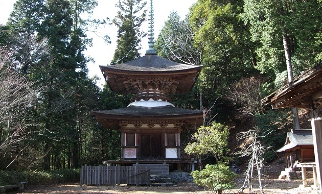 重要文化財に指定されている金胎寺・多宝塔(イメージ)