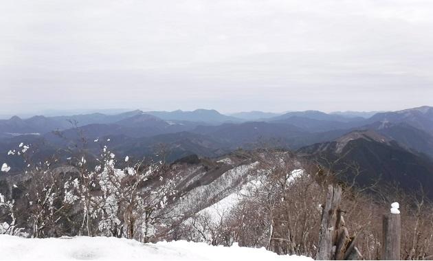 冬の高見山山頂からの景色(イメージ)