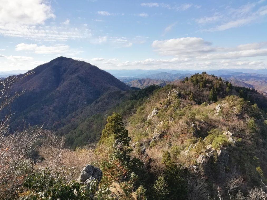 小金ヶ岳から三岳を望む(イメージ)