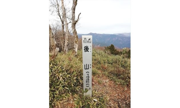 後山の兵庫県側山頂標識(イメージ)