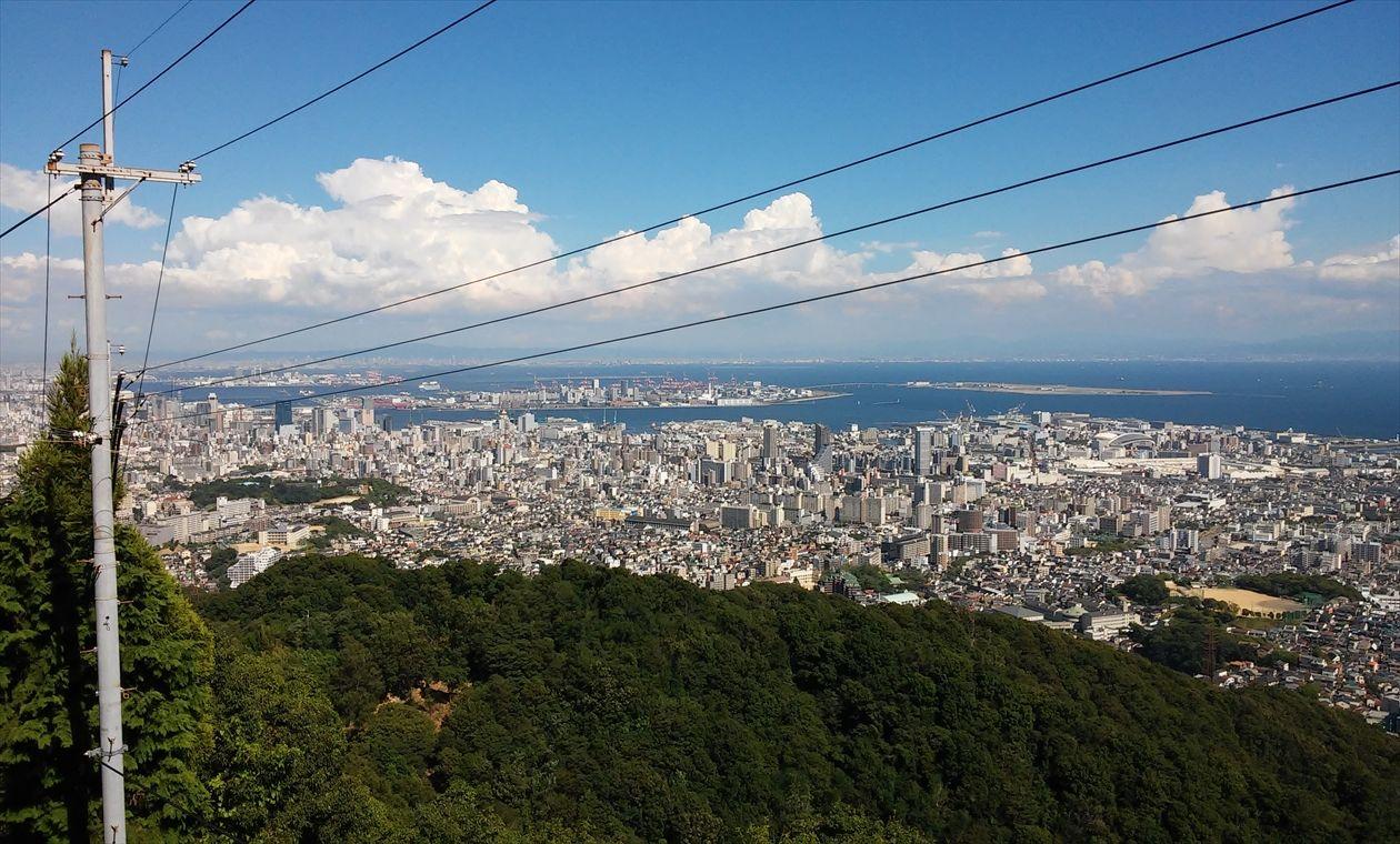 高取山から神戸市内・神戸湾の眺め(イメージ)