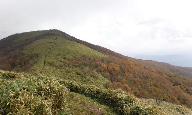 10月末頃の那岐山稜線(イメージ)