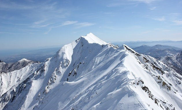 大山弥山から見た剣ケ峰(イメージ)