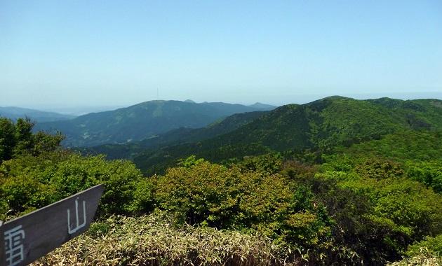 井原山から雷山に向かう縦走路(イメージ)