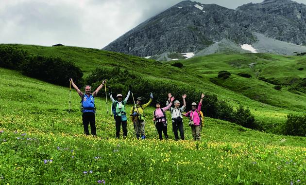 レッヒタール山群のお花畑(イメージ)