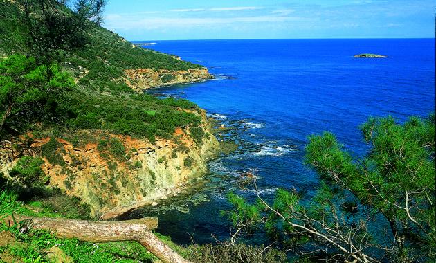 キプロス島アカマス半島の美しい海岸(画像提供:キプロス政府観光局)