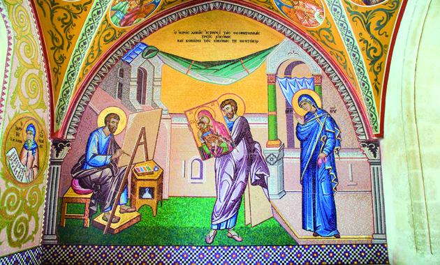 キプロス島キッコー修道院のフレスコ画(画像提供:キプロス政府観光局)