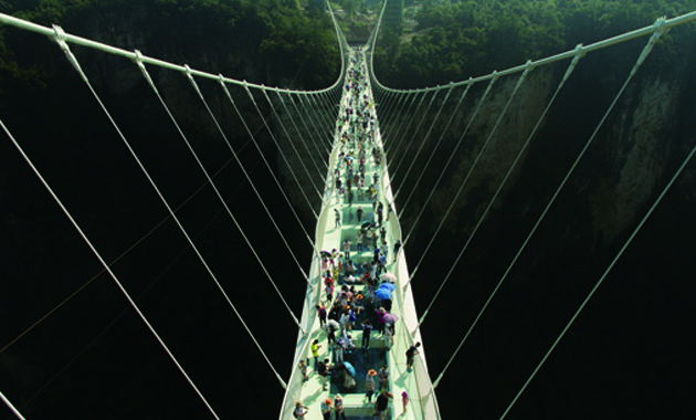 張家界大峡谷玻璃大橋(イメージ)